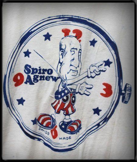 Vtg Political T Shirt Soft Thin Spiro Agnew Watch Nixon