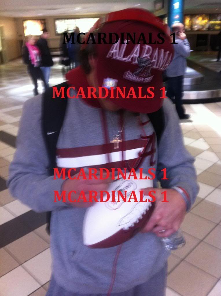2012 Alabama Crimson Tide Team Signed Autographed BCS Football Proof