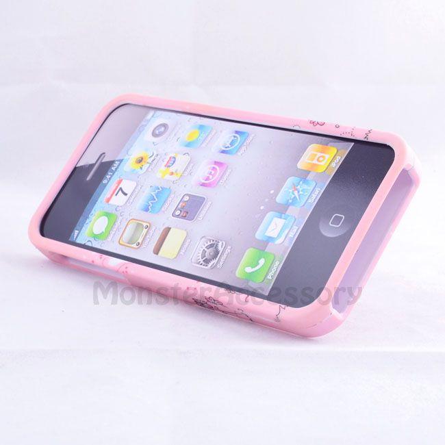 Pink Jolly Bear Gem Bling Hard Case Cover for Apple iPhone 5 5g