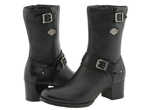 Harley Davidson Womens Serita Riding Boots Black Leather D85041