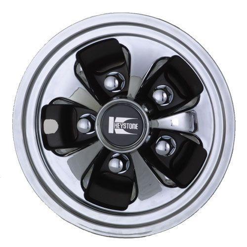 Chrome Cragar Keystone Golf Cart Wheel Covers Hubcaps L Golf Cart