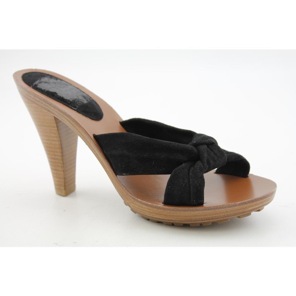 KORS Michael Kors Dash Womens Size 7 Black Open Toe Regular Suede