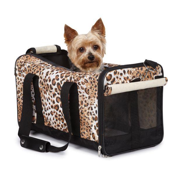 Animal Print Duffle 22 lb Pet Dog Cat Carrier Shoulder Tote Travel