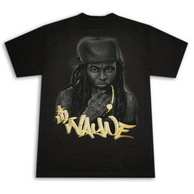 Lil Wayne Gold Logo Shirt New Rap Hip Hop