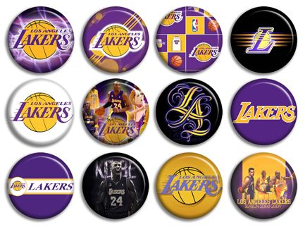 Los Angeles La Lakers NBA Buttons Pins Badges New Collection