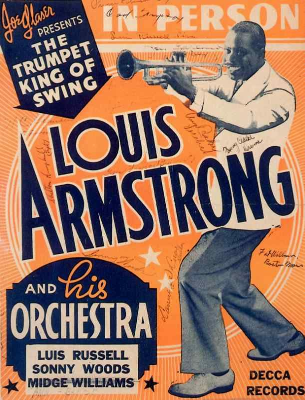 Big Band Poster Louis Armstrong and Orchestra Unik