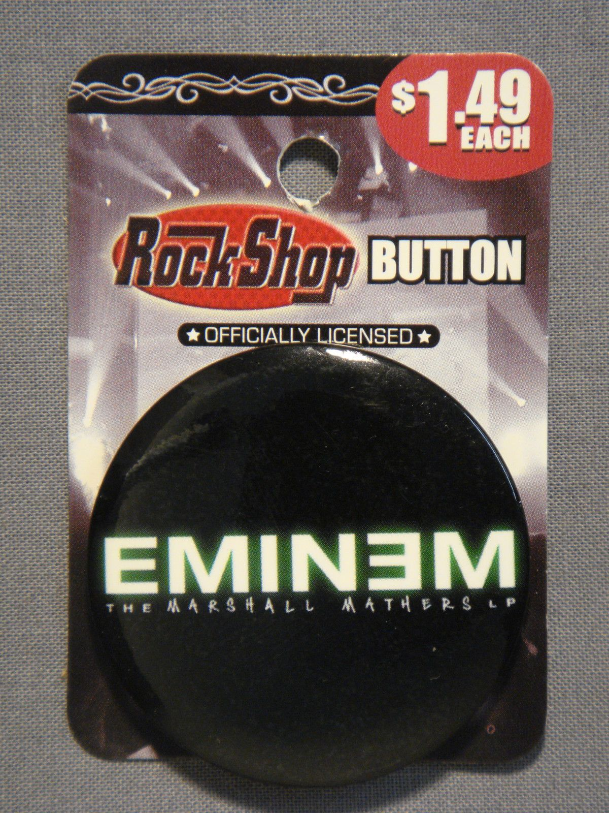 Eminem The Marshall Mathers LP Logo 1 75 Button Pin New