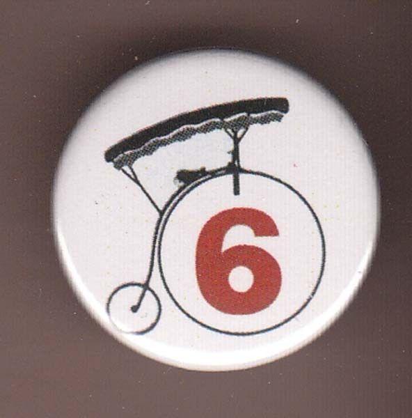 Patrick McGoohan The Prisoner Number 6 Badge Button Pin Six Portmerion