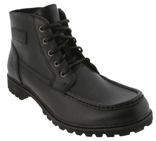 Harley Davidson Black Leather Paladin Motorcycle Boots Mens