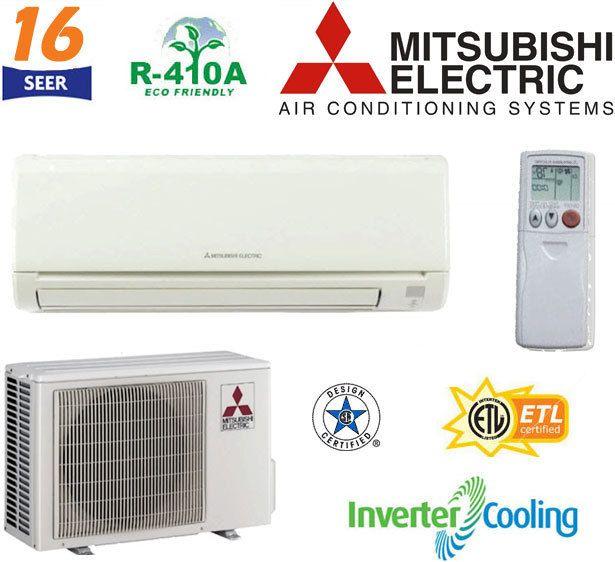 Mitsubishi Mr Slim Ductless Mini Split Air Conditioner 2 5 Ton