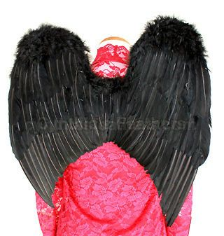 Midninght BLACK Feather Angel wings for children of 7+ or teen girls