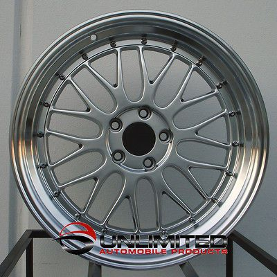 LM Staggered Hyper Black Wheels Rims Fit AUDI RS4 RS6 S4 S5 Allroad