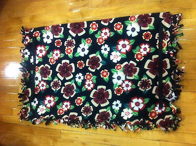 Flowers Golf Cart Seat Cover Handmade Fleece with Elastic Straps for