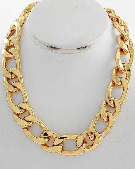 Kim K, Beyonce, Nicki Minaj Style Thick Gold Rope Chain Celebrity