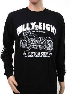 BILLY EIGHT LONG SLEEVE VINTAGE SHIRT MOTORCYLCE WEST COAST CHOPPERS