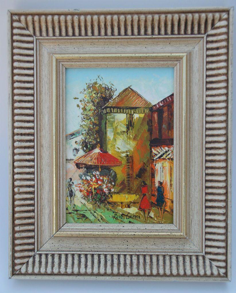 (Impressionist Artist)   Painting of a Parisian Street Scene   5x7