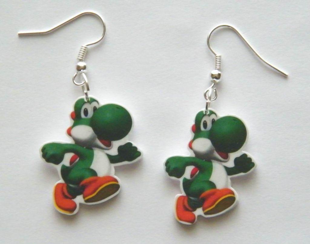 New Super Mario Bros. Yoshi Nintendo Earrings