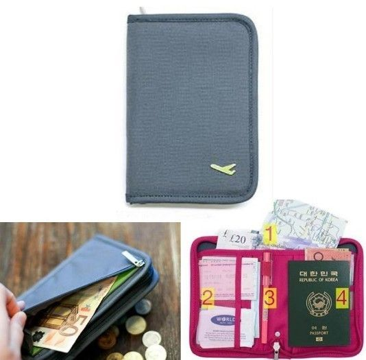 Ticket Passport Holder ID Credit Card Coin Cash Wallet Purse Bag