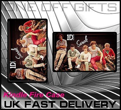 1D Personalised Kindle Fire Tablet Hard Cover Case Gift 1D Fan