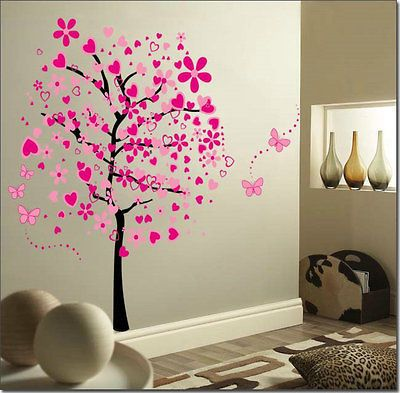 Wall Sticker BIG Wall Decals Cherry Blossom Tree Mural Decor 67x43
