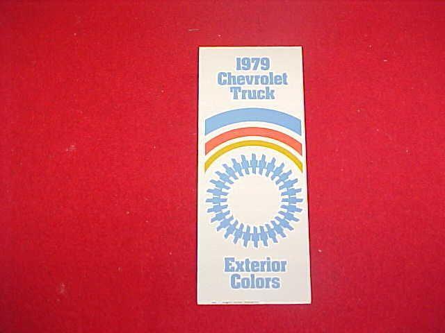 1979 CHEVROLET EL CAMINO BLAZER 10 20 30 TRUCK PAINT CHIP COLOR CHART