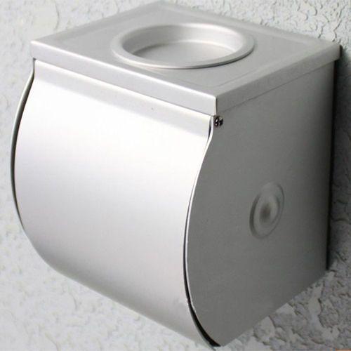 Bathroom Alumimum Toilet Paper Roll Tissue Container Covers Holder Box