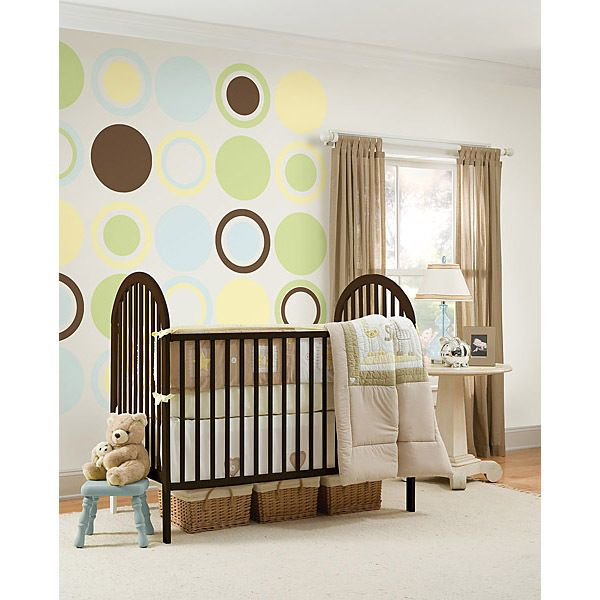 Espresso Brown Concentric Dot Removable Wall Decals Sticker Nursery