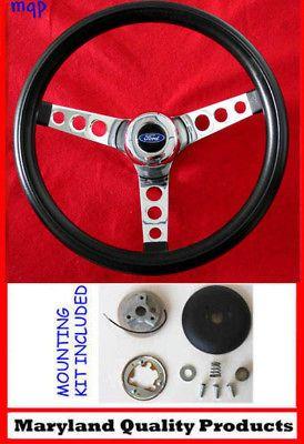 13.5 Bronco F100 F150 F250 F350 Grant Black Steering Wheel NEW