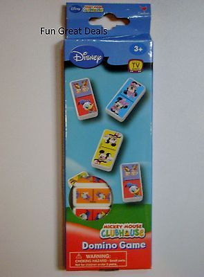 Mickey Mouse Clubhouse Dominoes Game Disney Mickey Minnie Donald Duck