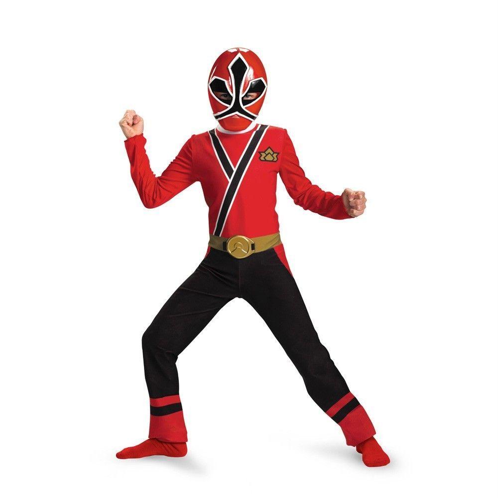 Power Rangers RED Ranger Samurai Classic Child Costume Size 10 12