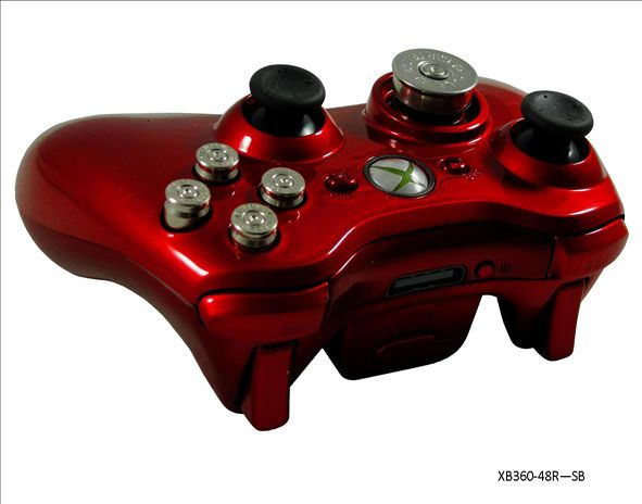 Xbox 360 Red Silver Bullet 70+ Mode Prog Rapid Fire Controller for