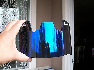 New Nike Blue Mirror Tinted Football Helmet Visor Eyeshield Without
