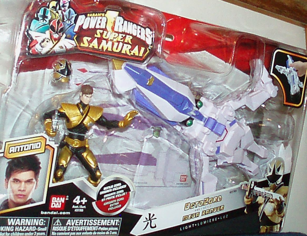 2011 BAN DAI POWER RANGERS SAMURAI OCTOZORD AND 4 IN GOLD SAMURAI