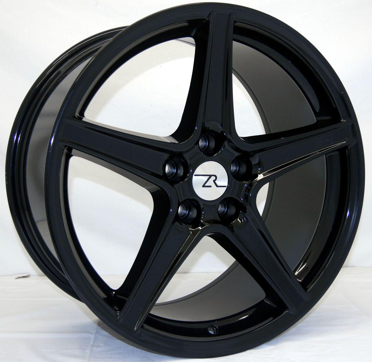 Black Mustang ® Wheels fits Saleen 19 Replica 1994 2013 19 inch rims