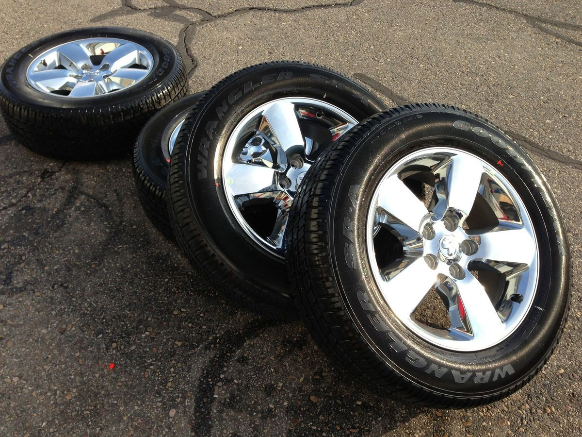2013 Dodge RAM 1500 Limited Stock 20 Chrome Wheels Rims 275 Goodyear