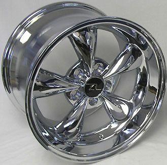 Dish Mustang Chrome Bullitt Wheels 17x9 10 5 fits 1994 04 Bullet Rims