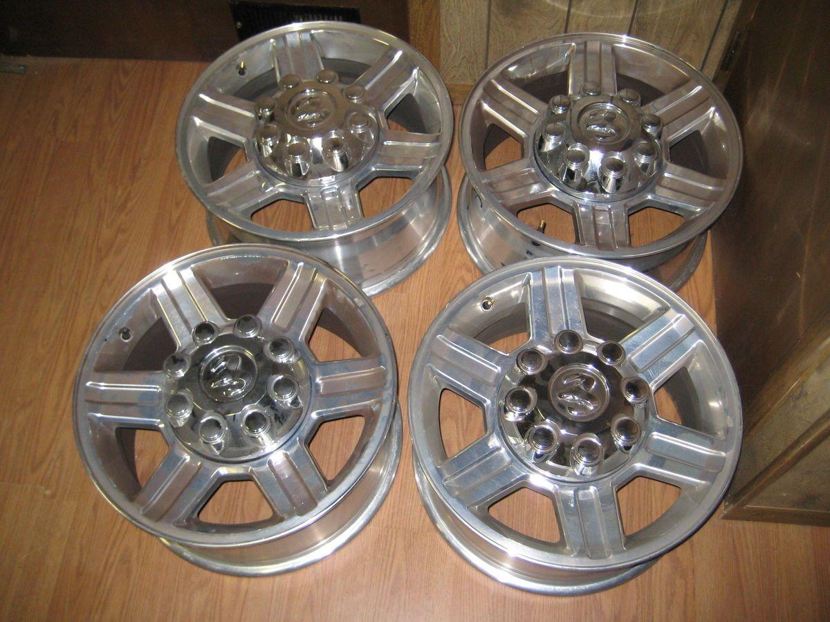 2012 Dodge RAM Laramie Heavy Duty Aluminum Stock Rims Wheels 17x8 Like