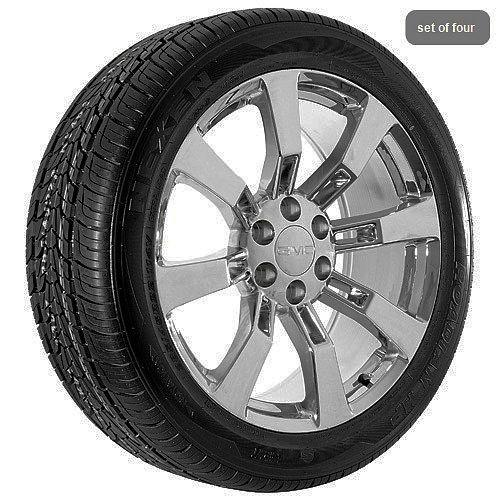24 inch GMC 2012 Yukon Denali 2012 Sierra chrome wheels rims and tires