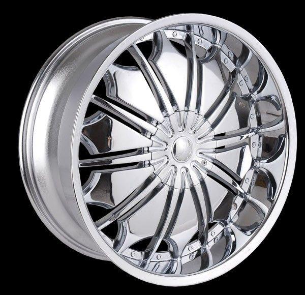 26 inch T706 Chrome Wheels Rims Cadillac Escalade All