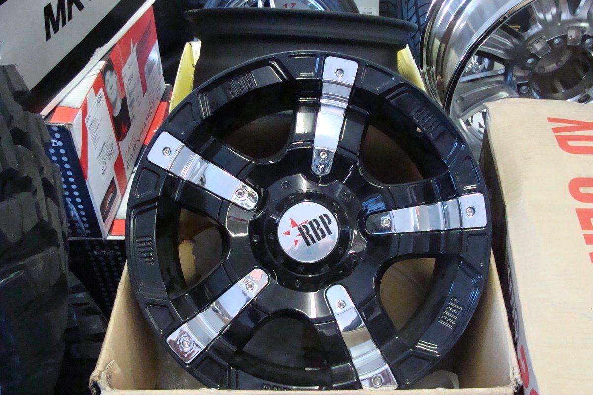 RBP 93R Black Chrome Wheels 17x9 Ford F150 Lifted 2004 2007 ONLY  25mm