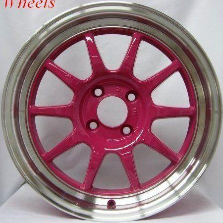 16x7 Rota GT3 4x100 40 Royal Pink Wheel Fits Civic Integra CRX XB