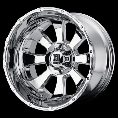 20 XD Series 799 Armour Chrome Wheel Set 20x12 Rims