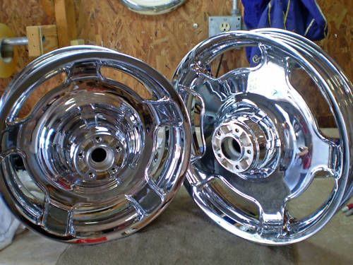 Harley Davidson New FLHX Chrome Wheels 09 10 11 12 13 NR