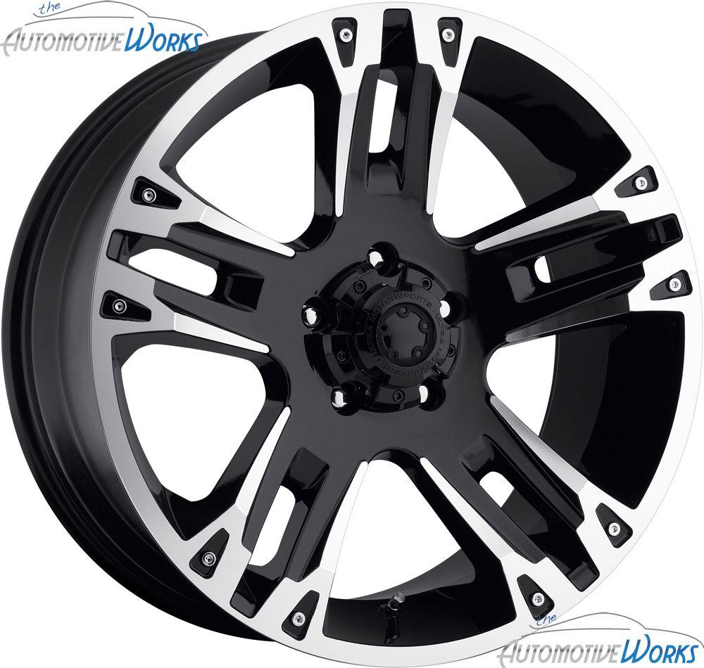 235 Maverick 8x165 1 8x6 5 12mm Black Machined Wheels Rims 18