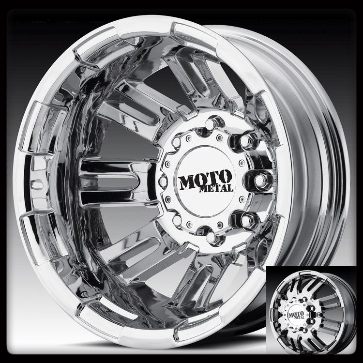 Metal MO963 Chrome Chevy Silverado F350 RAM Dually Wheels Rims
