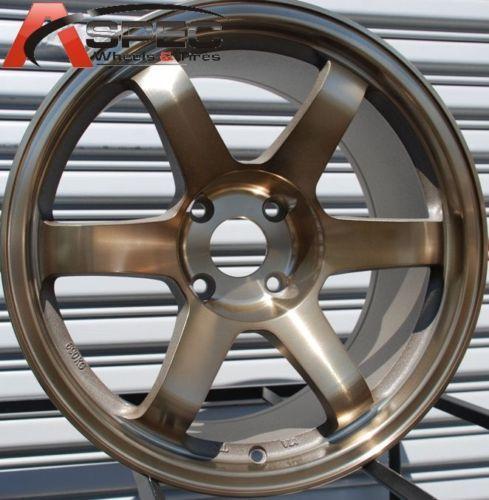 17x9 Rota Grid Wheels 5x114 3 Rim 25mm Sport Bronze S14