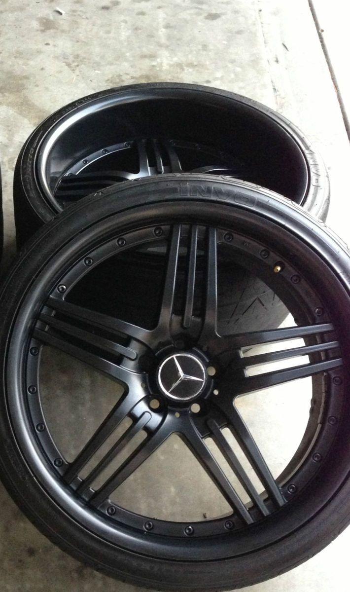 Black Mercedes Benz AMG Replica 20 Rims E CLS s CL SL