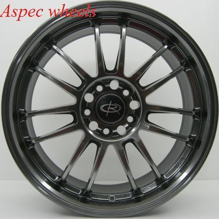 18x8 5 Rota SVN Wheels 5x100 Hyper Black Rims ET48MM Fits Subaru WRX