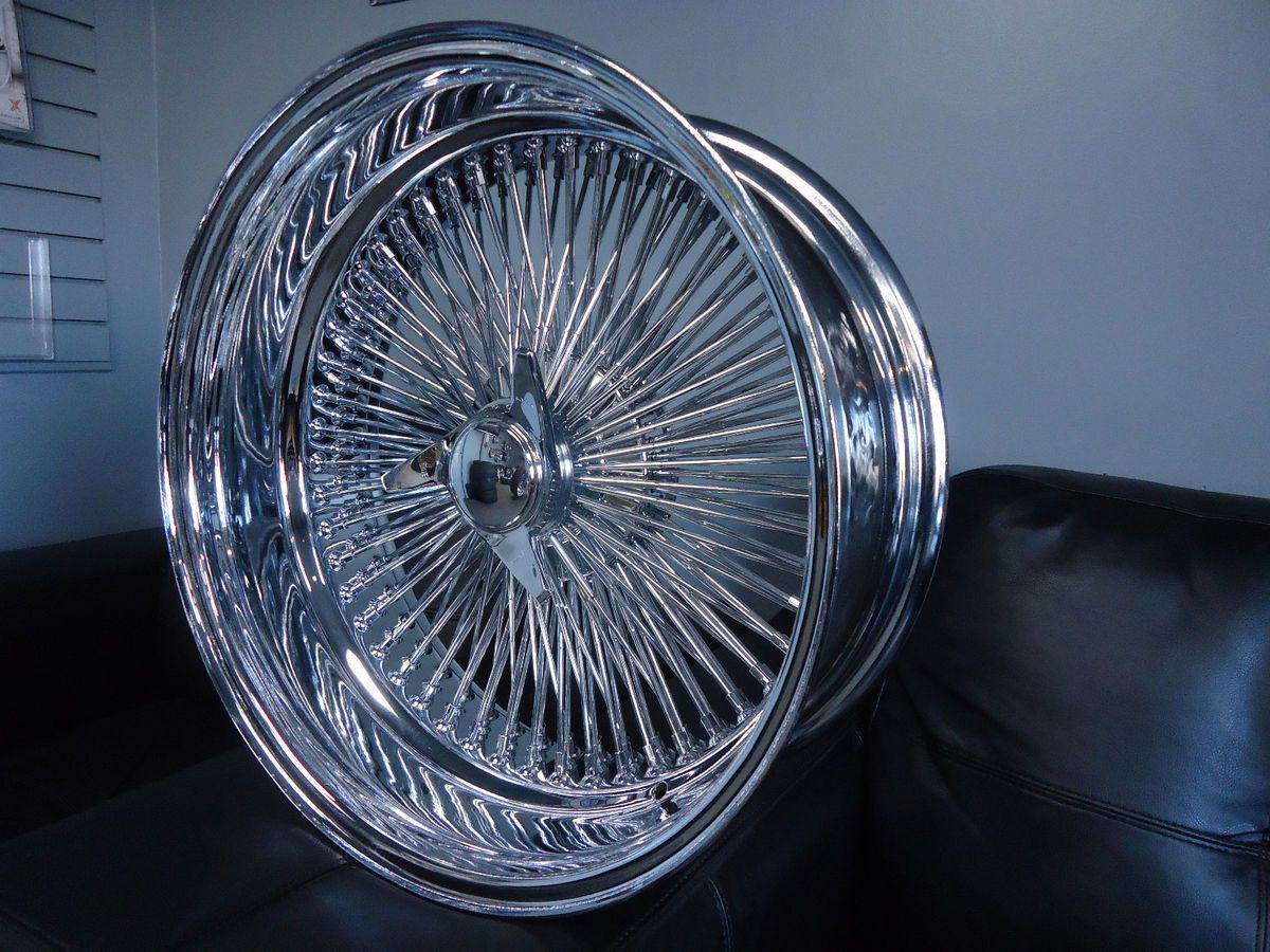 DAYTON CHROME 20x8 Wire Wheels Full Set Rims NEW Deep Dish KNOCKOFF