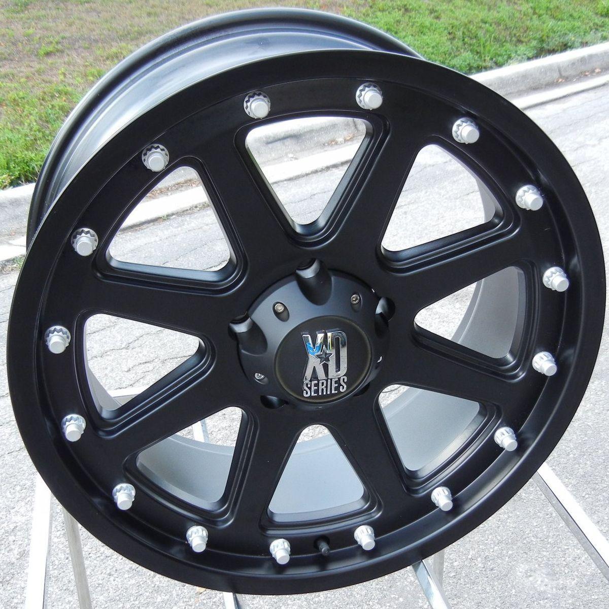 20 Black XD Addict Wheels Rims Chevy GMC 2500 3500 HD 8x6 5 Dodge RAM